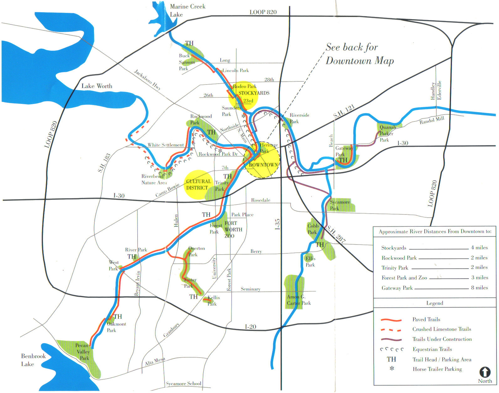 Fort Worth Parks Plants And Natural Features - San jose bike trails map